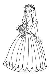 Free Coloring Pages For Boys And Girls For Girls Brides