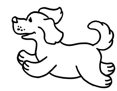 Free Coloring pages for boys and girls: Animals: Dogs